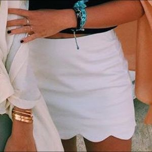 Topshop Scallop Skirt